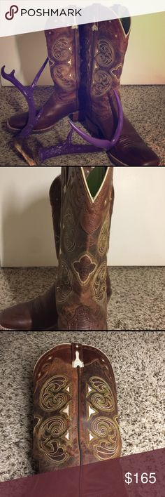 NWOT Ariat boots Boy Howdy!  These are new without tags. They have only been tried on in my home in carpeted areas. Ariat is known for comfort AND style. These are sure to turn heads. Ariat Shoes Heeled Boots