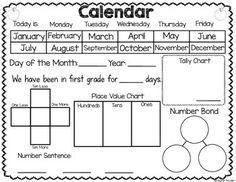 Calendar Freebie! Interactive Calendar Recording Sheets!