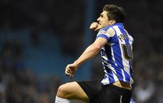 Forestieri celebrates goal against Forest today