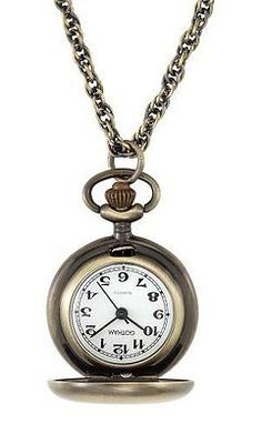 Watches Creative Bronze Necklace Chain Robot Shape Pattern Pocket Watches Women Men Quartz Clock For Ladies Retro Analog Clock Firm In Structure