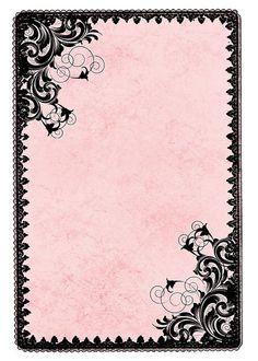 Étiquette rose et noire girly.