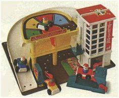 Little People Garage. Luke has the current day Little People garage...mine was so much better. Wish I still had it!