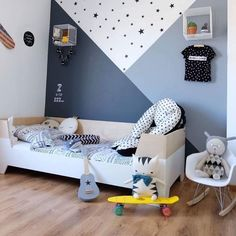 – – – Ideen für Kinderzimmer You are in the right place about baby room decor for boys Here we … Boys Bedroom Paint, Kids Room Paint, Boys Bedroom Decor, Baby Bedroom, Baby Room Decor, Bedroom Girls, Baby Boy Bedroom Ideas, Bedroom Wall, Boy Toddler Bedroom