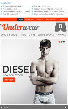 'Underwear Man Facebook Flash Templates by Hermes