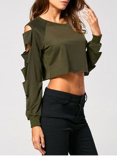 GET $50 NOW | Join RoseGal: Get YOUR $50 NOW!http://www.rosegal.com/sweatshirts-hoodies/long-sleeve-ripped-cropped-sweatshirt-883993.html?seid=7345709rg883993