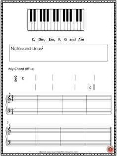Creating and performance activity with chord progressions for general music classes. ♫ CLICK through to download your copy of the activity sheets! ♫    #musiceducation