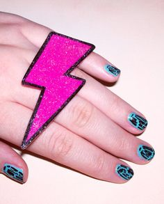 Lightning Bolt Ring http://www.etsy.com/listing/65164398/gaga-for-glam-jerseylicious-hot-pink