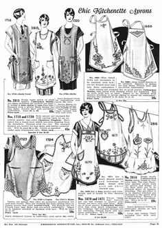 vintage 1920s aprons | Herrschners Chic Kitchenette Aprons, 1928 — My Version