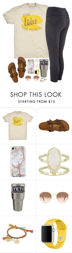 """sweet dreams"" by kaley-ii ❤ liked on Polyvore featuring Birkenstock, Kendra Scott, Ray-Ban, Venessa Arizaga and Kate Spade"