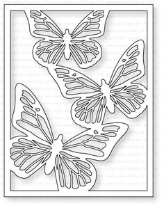 Papertrey Ink - Cover Plate: Butterfly Die: Papertreyink Paper Cutting Patterns, Stencil Patterns, Stencil Art, Doll Patterns, Kirigami, Butterfly Drawing, Butterfly Crafts, Butterfly Stencil, Paper Art