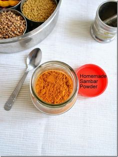 All homemade essential recipes like powders,sauces, pickles,and some easy methods in one page with step by step pictures South Indian Vegetarian Recipes, Indian Food Recipes, Recipes In Tamil, Powder Recipe, Indian Street Food, Masala Recipe, Spice Mixes, Dip Recipes, Homemade