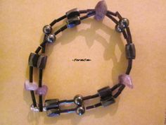 A magnetic bracelet for healing pains and iflections to bones and sceleton.Magnets , hematites, amethysts and crystallic beads.Also perfect for people with disability to move. Amethysts, Disability, Chakra, Bones, Magnets, Healing, How To Apply, Jewels, Crystals