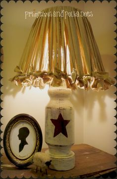 painted star lamp
