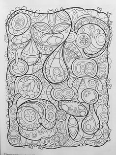 groovy abstract coloring book design originals coloring is fun thaneeya mcardle