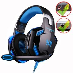 Cheap game headphones, Buy Quality game headphones with microphone directly from China headphones with microphone Suppliers: KOTION EACH Gaming Headset Deep Bass Stereo Computer Game Headphones with microphone LED Light PC professional Gamer Gaming Headset, Wireless Headset, Gaming Computer, Computer Laptop, Gaming Headphones, Headphones With Microphone, Pc Gamer, Laptop Backpack, Travel Backpack