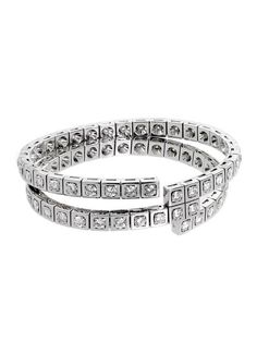 34d56ab549fc Cartier Diamond Gold Wrap Tennis Bracelet