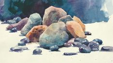 Rock Solid Watercolor Essentials Watercolor Art Watercolor Realistic Rocks Watercolor Tutorial How To Paint Step By Step How To Paint Rocks Value And Shape For Minerals Done Right Painting And…Read more of Painting Rocks In Watercolor Watercolor Artists, Watercolor Techniques, Watercolor Landscape, Watercolor Paintings, Watercolor Trees, Watercolor Portraits, Abstract Paintings, Watercolours, Oil Paintings