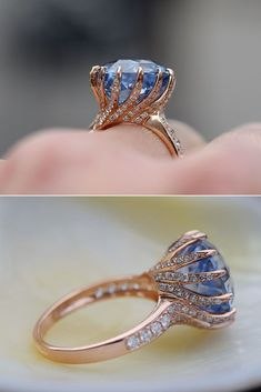 21 Sapphire Engagement Rings By Eidel Precious ❤️ eidel precious engagement rings oval sapphire collage ❤️ See more: http://www.weddingforward.com/eidel-precious-engagement-rings/ #weddingforward #wedding #bride #engagementrings