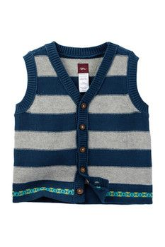 Tea Collection Eden Gardens Sweater Vest (Baby Boys)
