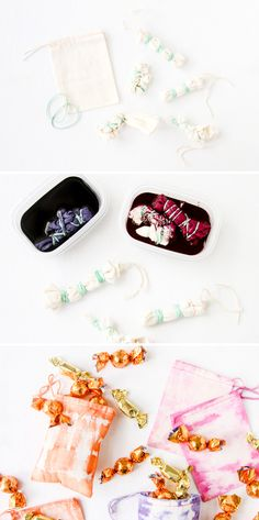 Dyed Halloween Treat Bags DIY