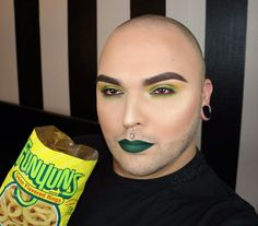 "Self-described ""Bald headed Bearded b*tch who wears makeup"" Tim O takes his inspiration from snacks. Specifically, the color combinations on chip bags and soon, even beer cans!"