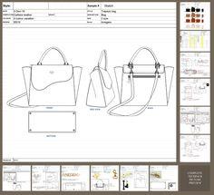 Fashion Design Drawings, Fashion Sketches, Leather Bag Design, Bag Illustration, Tech Pack, Diy Handbag, Kids Backpacks, Designs To Draw, Handbag Accessories