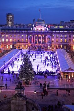 Ice Skate at the Somerset House in London, England