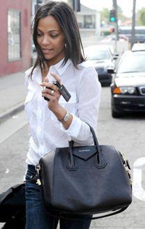 Zoe Saldana with the Givenchy bag of my dreams