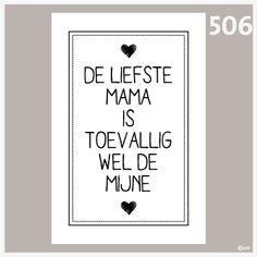 Tekstposter moederdag 506