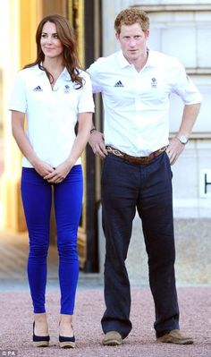 The Duchess of Cambridge and Prince Harry princess-kate