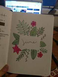 My crazy Satyrday night ~ Starting off june, stoked for the tropical theme : bulletjournal Bullet Journal Monthly Spread, Bullet Journal 2019, Bullet Journal School, Bullet Journal Themes, Bullet Journal Inspiration, Bullet Journal Decoration, Bullet Journals, Music Journal, Book Journal