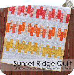 Sunset Ridge Quilt - jelly roll free pattern