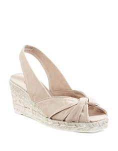 CASTAÑER Castaner Dayana Slingback Wedges. #castañer #shoes #pumps