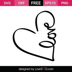 *** FREE SVG CUT FILE for Cricut, Silhouette and more *** Love in a Heart
