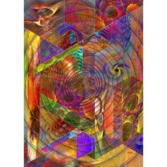 High Anxiety - By John Robert Beck  This abstract art was created in 2011. High Anxiety creates a feeling of frenzy, that jumps out at you. $3.00