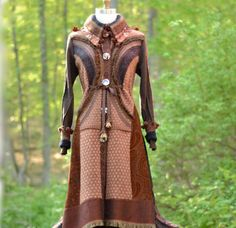 Tailored patchwork brown sweater COAT eco friendly by amberstudios