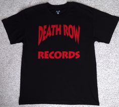 new DEATH ROW RECORDS T-SHIRT black &red hip hop rap Tupac Dr Dre Snoop Dogg LRG #DeathRowRecords #GraphicTee