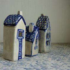 Porcelain and colbalt mason stain.