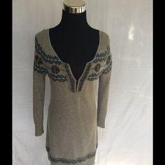 Orphorism Angora sweater dress Orphorism sweater dress size medium is a beautiful gray angora knit inSoft heather gray charcoal and light blue. It has an eyelet closure collar and is a size medium Dresses