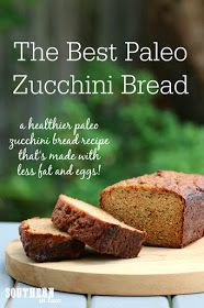 The Best Healthy Paleo Zucchini Bread Recipe - low fat, gluten free, low sugar, refined sugar free, low carb, dairy free, grain free, paleo