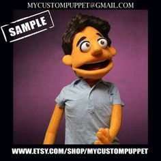 "Custom puppet "" muppet type "" Portrait Puppet pro puppet From Your Design , photo or Ours! Can Design, Your Design, Professional Puppets, Custom Puppets, Puppet Making, Are You The One, Your Pet, Type, Portrait"