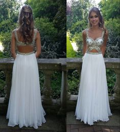 07291 High Quality Prom Dress,A-Line Prom Dress,Chiffon Prom Dress,Beading Prom Dress, Backless Prom Dress
