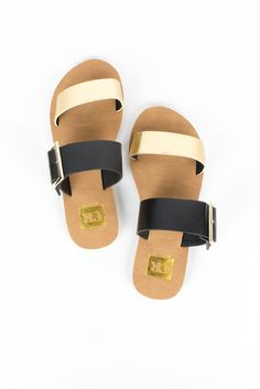 Gold Forward March Sandal