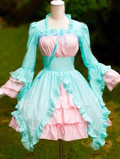 Adorable Mint and Pink Sweet Lolita Dress