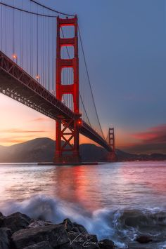 """"""" Cross by Victor Carreiro """" San Francisco Sites, San Francisco At Night, Living In San Francisco, San Francisco California, Golden Gate Bridge Wallpaper, Places Around The World, Around The Worlds, Puente Golden Gate, Places To Travel"""