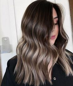 51 Gorgeous Hair Color Worth To Try This Season - balayage hair color, fabmood, light brown hair color ideas, hair colours 2019 hair color tren - Ombre Hair Color, Hair Color Balayage, Hair Highlights, Ash Blonde Highlights On Dark Hair, Medium Balayage Hair, Cool Ash Blonde, Balayage Asian Hair, Hair Bayalage, Light Brown Highlights