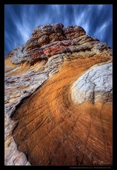 'Psychedelic Sandstone' - White Pocket may very well be the most dazzling and unusual display of sandstone on earth, remotely located on the Paria Plateau in Northern Arizona (a geological wonder and near where the Grand Canyon begins). Artistic Photography, Landscape Photography, Valley Of Fire, White Mountains, Rock Formations, Never Stop Exploring, Mother Nature, Psychedelic, State Parks
