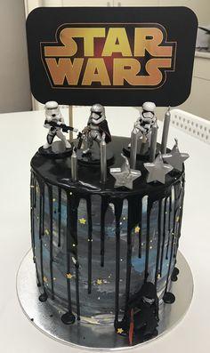 Star Wars buttercream drip cake www.fb.com/shanouki