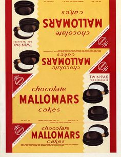 Nabisco - Chocolate Mallomars Cakes - paper box wrap - 1930's 1940's | Flickr - Photo Sharing!