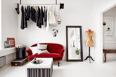 my scandinavian home: The creative studio of Katrin Bååth Bedroom Inspo, Bedroom Ideas, Walk In Closet, Living Room Designs, Devine Design, Art Director, Coat Storage, Office Spaces, Small Office